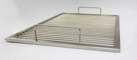 grillrost aus edelstahl nach ma 2 abnehmbare b gelgriffe umfang 261 280 c aktiona shop. Black Bedroom Furniture Sets. Home Design Ideas