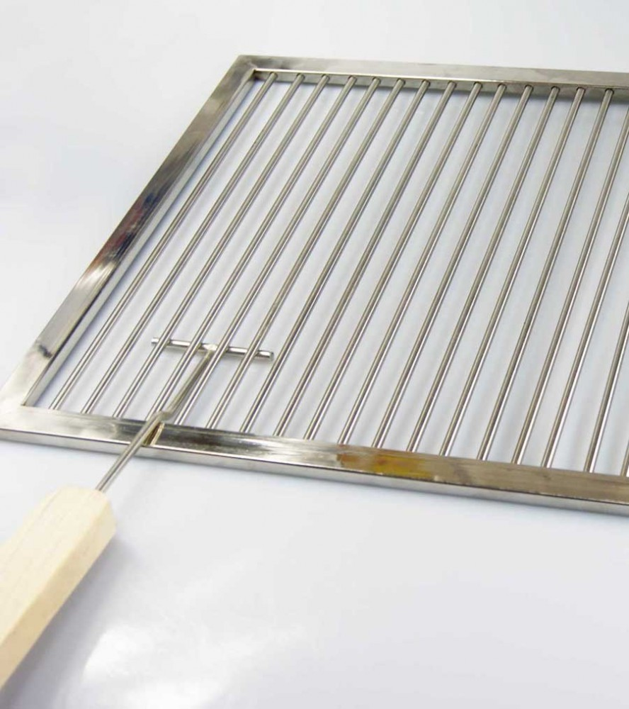 grillrost aus edelstahl nach ma inkl 2 handgriffen umfang 241 260 cm aktiona shop. Black Bedroom Furniture Sets. Home Design Ideas