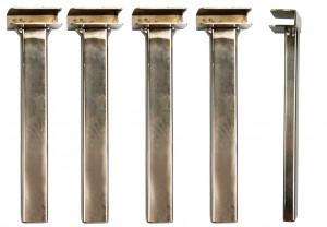 4 Klemmhalterungen / Beine 30 cm passend für alle Grill - Grillroste von AKTIONA