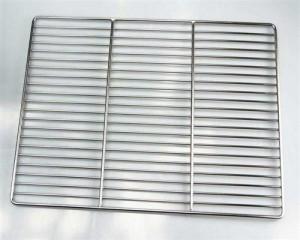 Edelstahl Grillrost 44 x 25,5 cm für Gasgrill, stabile & schwere Grill Ausführun