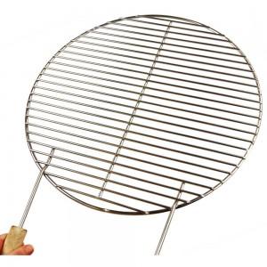 Ø 44,5 cm verchromter Grillrost für Kugelgrill 47er Weber geeignet + 2 Griffe / nur 10 mm lichter Stababstand !