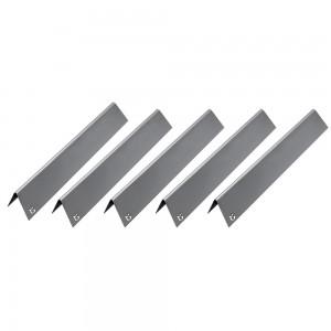 5 x Edelstahl Aromaschiene für Weber SPIRIT 200 Series bis 2012 Genesis Silver 547 x 49