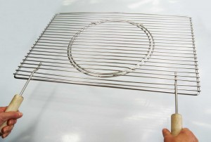 60 x 40 cm Edelstahl Grillrost